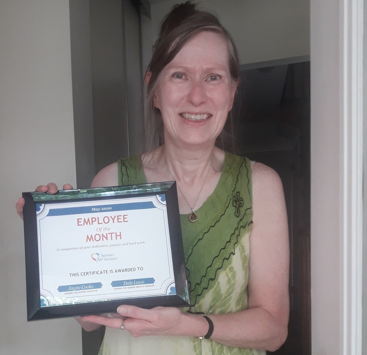Image: Jayne is our May Employee of the Month