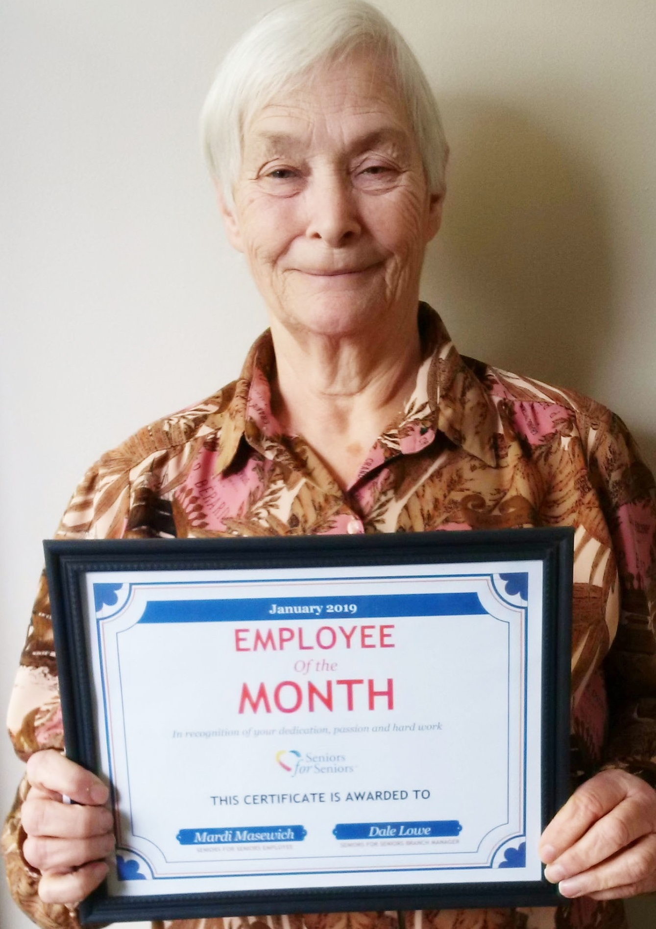 Image: Mardi is our January Employee of the Month!