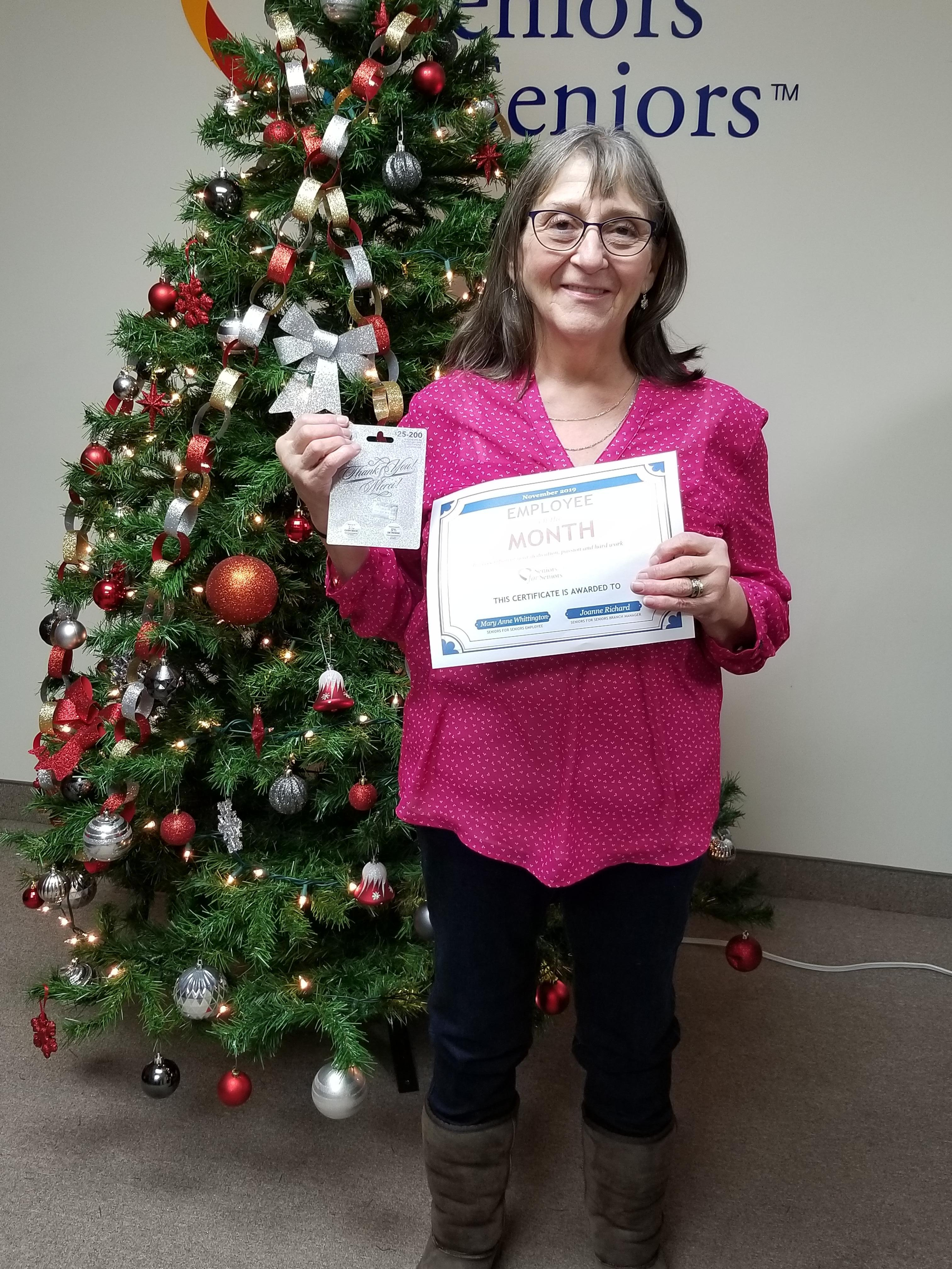 Image: Mary Anne is our November Employee of the Month!