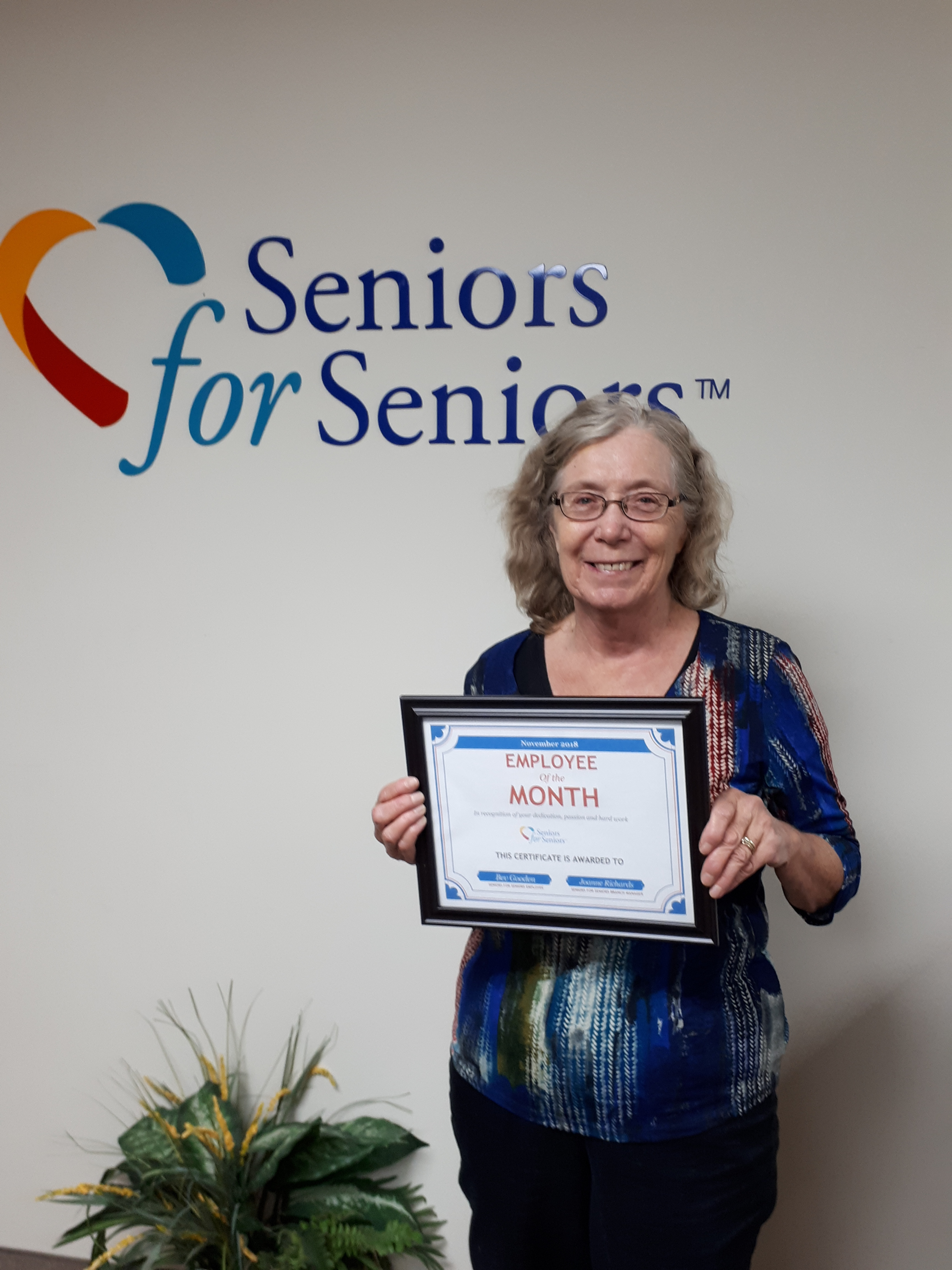 Image: Bev is our November Employee of the Month!
